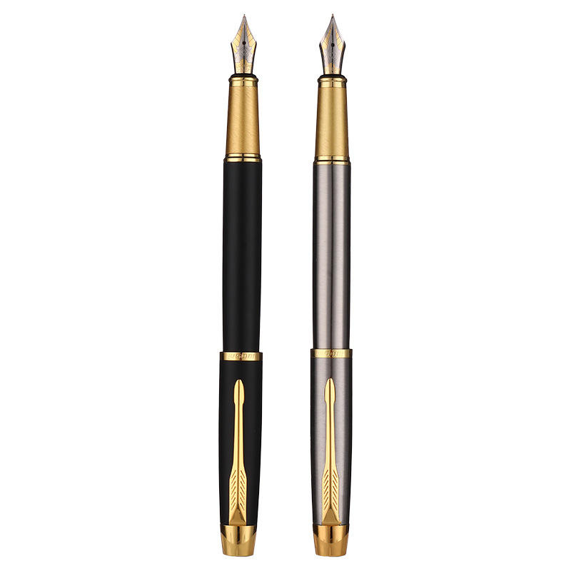 good quality metal fountain pen with smooth nib writing logo custom wholesale