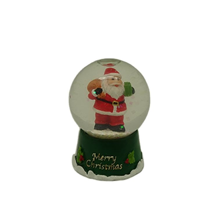 Custom Color DIY Red Resin Christmas Santa Claus Water Globe Souvenir Snow Globe