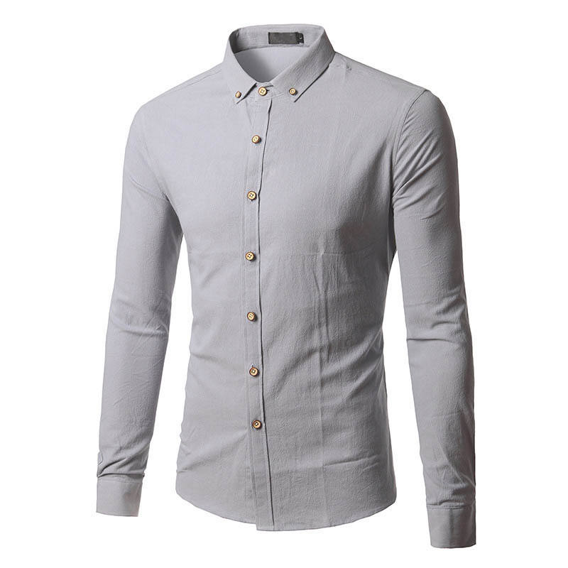 Long Sleeve Men Autumn Designer Solid Non Iron Slim Fit Business Shirts Men's Casual Dress Long sleeve Shirt Twill White Blue Pi