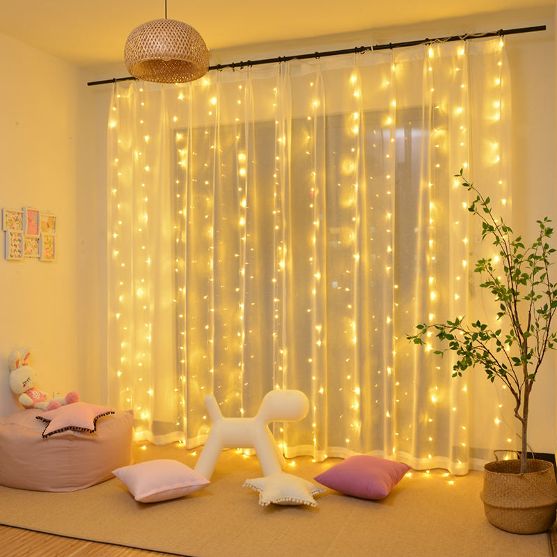 LED Home Outdoor Holiday Christmas Decorative Wedding xmas Curtain String Lights