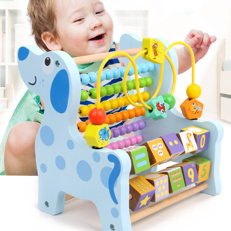 Montessori Wooden Mathematics Toys Multi-functional Abacus Toys Early Learning Teaching Aids Children's Educational Toys