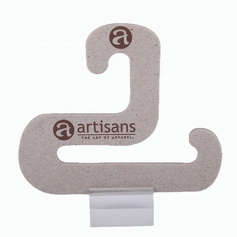 Environmentally friendly Recycled paper cardboard biodegradable hangers scarf display with logo printed