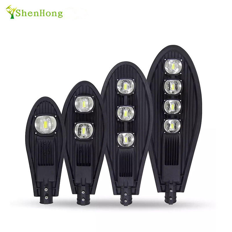 Factory direct outdoor LED road dimmable thin 50w 100w 150w 200w LED street light garden light