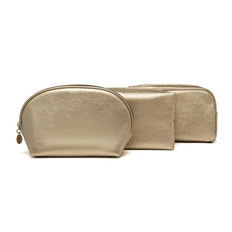 Whole Sale PU Leather Cosmetic Bag Traveling Shell Make Up Bag Men Women Waterproof Wash Bag