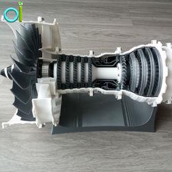 3d printing cnc machining High Precision Custom Made Aircraft Jet Turbojet Turbine Engine part