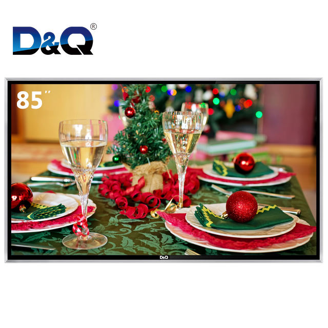 2020 D&Q Latest design tempered glass modern HDR 4K television 85 inch led tv smart made in China