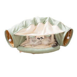 Cat Tunnel With Soft Pad And Hanging Bed
