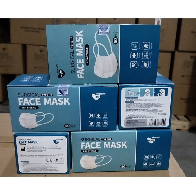 type iir surgical medical face mask splash resistance wholesale surgical face mask for Europe Market