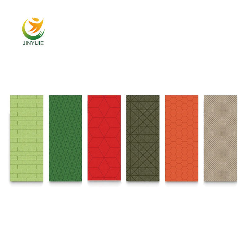 Pet panel 25mm poliester acstic panel polyester acoustic fiber t acoustic panel felt acoustic sound board fiber acoustic pane