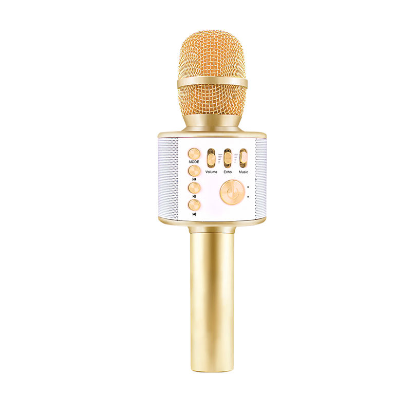 Colorful Home KTV Microphone Wireless Professional Mini USB Handheld Wireless Bluetooth Karaoke Microphone