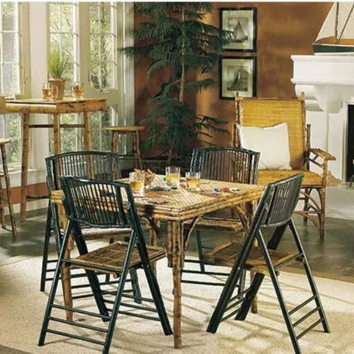 cheap bamboo dining table and bamboo folding chair