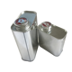 Cheap Rectangular F-style 1L Square Metal Tin Oil Cans used for Petrol Oil Chemicals China Manufacturer