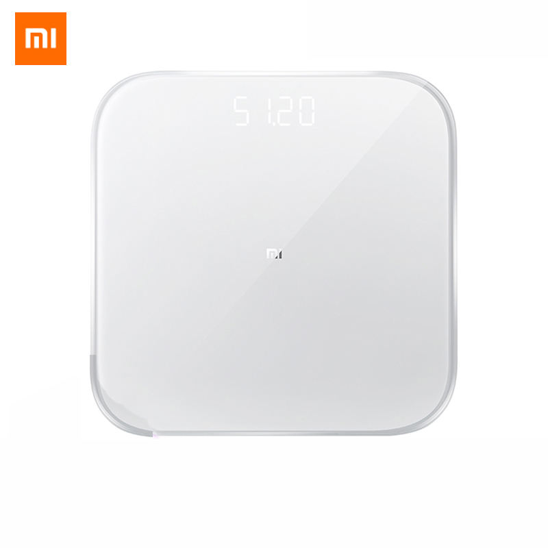100% Original Xiaomi Mijia Weight Scale 2 Mi Smart Health Weighing Scale Electronic Lose Weight Digital Scale LED