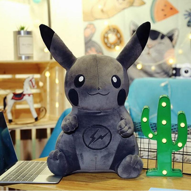 New Arrival Soft Pokemon Doll Black Pikachu Stuffed Toy for Children