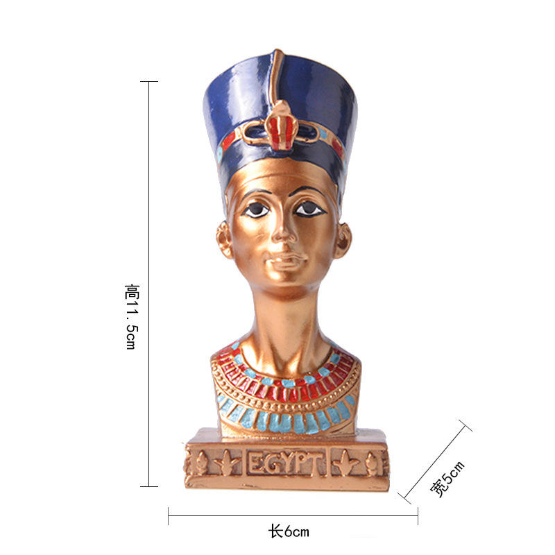 Wholesale resin Figurine India Indian Exporters Interior African Decor Africa Queen of Egypt Home Decoration