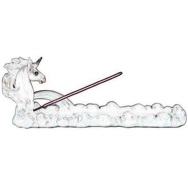 Custom accept polyresin Winged Unicorn Horse with Rainbow Clouds Incense Fragrance Holder