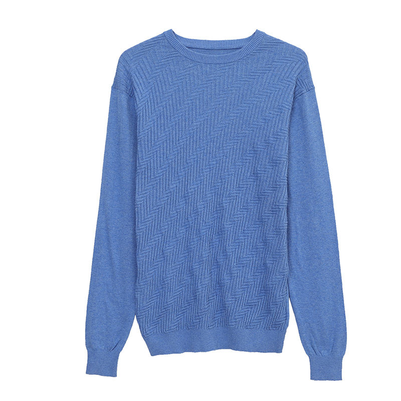 Hot-selling blue Color Pullover Basic Sweater Design For Man