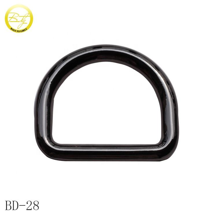 Wholesale high quality d ring fitting gumetal adjustable metal d buckle for bags accessories