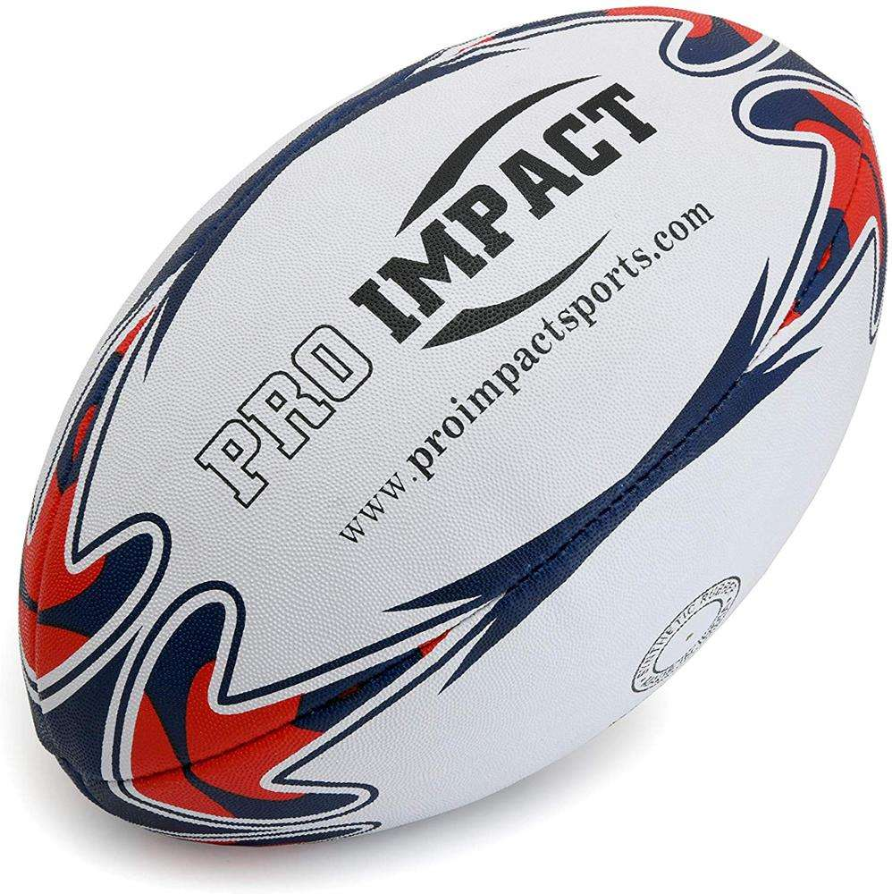 Official Size Custom Printed Rugby Ball With Rubber