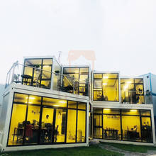Easy Assembly Two Story Modular Luxury 3 Bedroom Pre Built Prefab Container Homes China