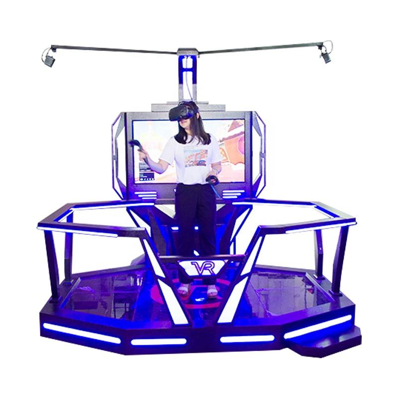 Indoor 9D VR walk Machine Design virtual reality simulator with free updated 3d games