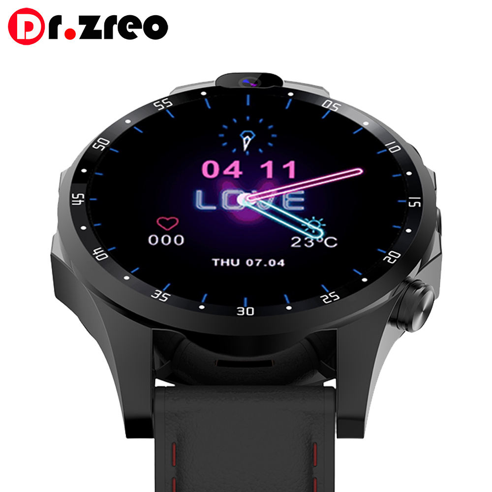 Janus watch 2 Sport Smart Watch 2019 4G MTK6739 Android 7.1 with 5MP Dual Camera+SIM Card GPS WIFI 1GB 16GB Smartwatch For Man