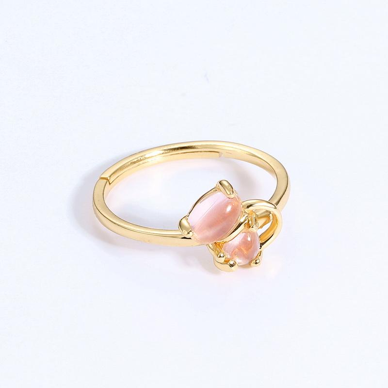 Logo Customization [ Cat Rings Ring ] Cat Ring Women Cat Design Rose Quartz 925 Silver Jewelry Rings For Women Wedding Party Fine Jewelry Ring Wholesale Gift
