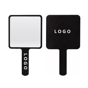 Custom Logo Square Handheld Mirror Private Label Single Side Cosmetic Mirrors