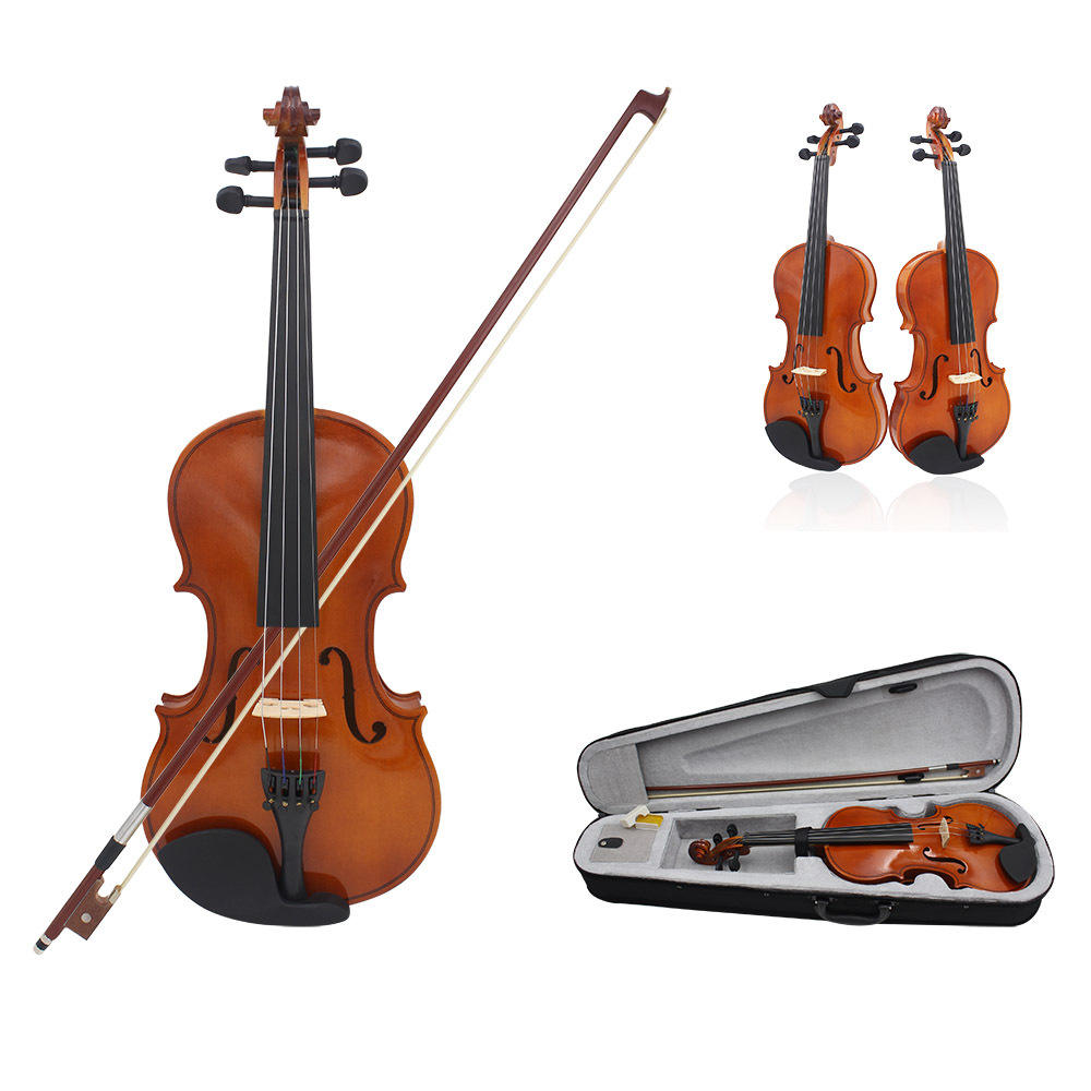 Custom Color Handmade Full Size Nice Sound Advanced Linden wood Violin 4/4 1/8 3/4 1/4