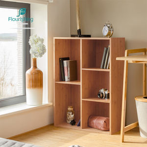 Modern Small Cube Wall Hanging Elegant Bookshelf In The Living Room