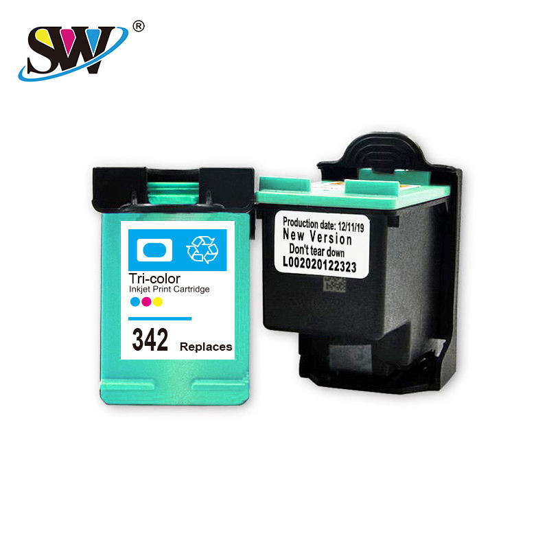 Factory recycled wholesale refillable compatible original inkjet marking machine cartridge 342 premium quality for HP printers