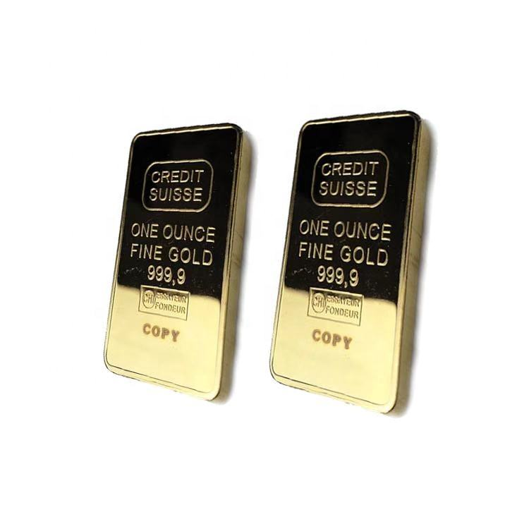 Swiss Bank Gold Bar Commemorative Coin 1 oz Shaped Gold Coin Art Collection Gift Decoration Craft