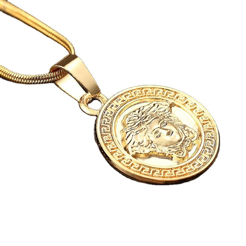 2017 Hot New Products Hip Hop Pendant Coin Necklace Dubai New Gold Chain Design For Men