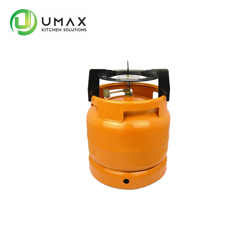 Ghana Umax Factory sale price cooking gas cylinder wholesale small sizes 6kg lpg gas cylinder