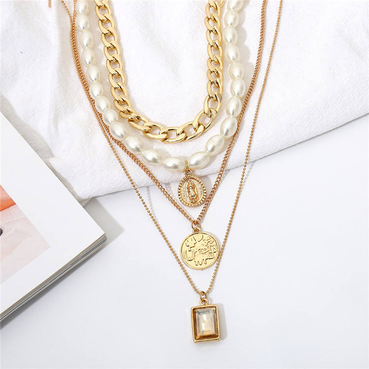 Cheap Fashion Jewelry Classic Lady Necklace Vintage Charm Gold Choker Necklace