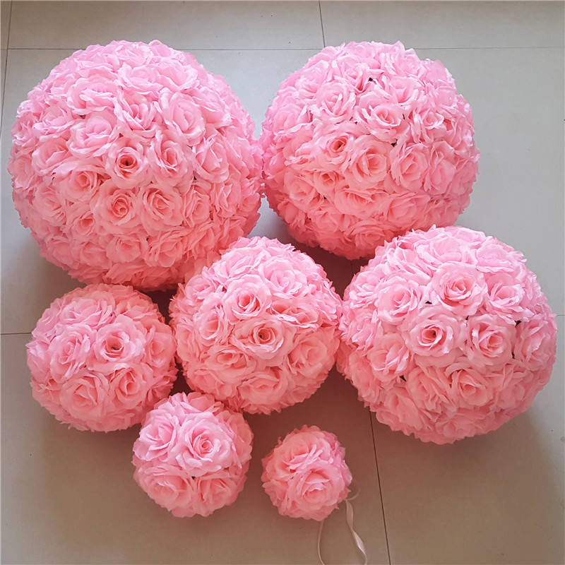 wedding Rose Flower Ball Wedding hanging Decorations Artificial Rose colorful natural touch soap Flower Ball