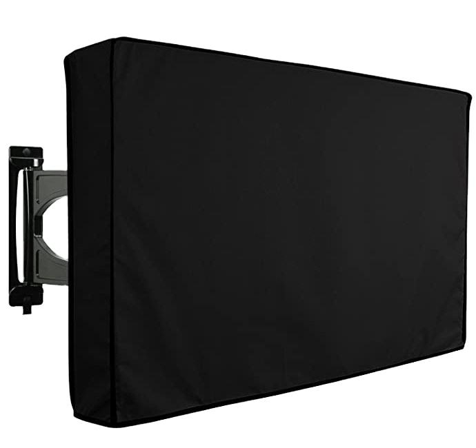 Multiple Sizes Outdoor TV Cover with Clear Front Weatherproof Universal Protector for LCD LED Plasma Television Sets