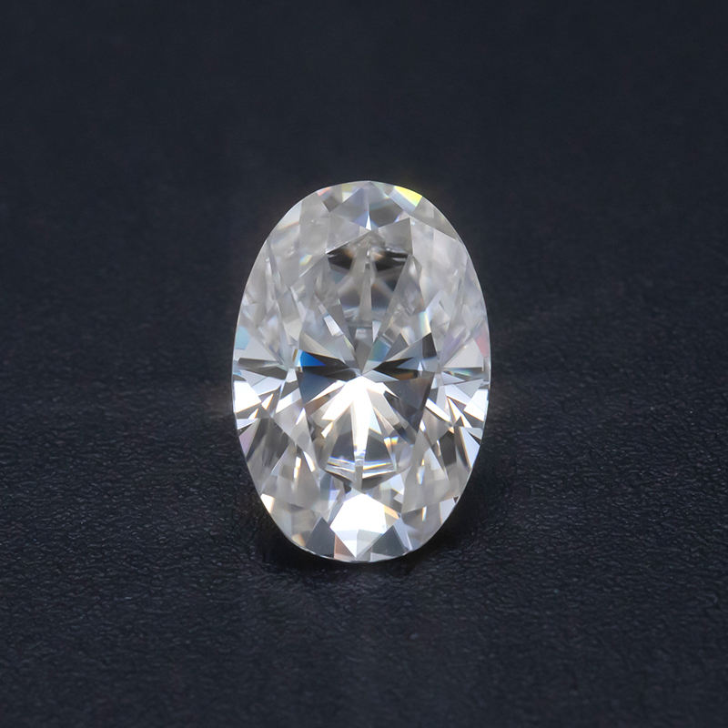 ZUANFA High Grade Vvs White D EF Colorless 1.5 Carat Elongated Oval Moissanite Oval Shape Lab Diamond Loose