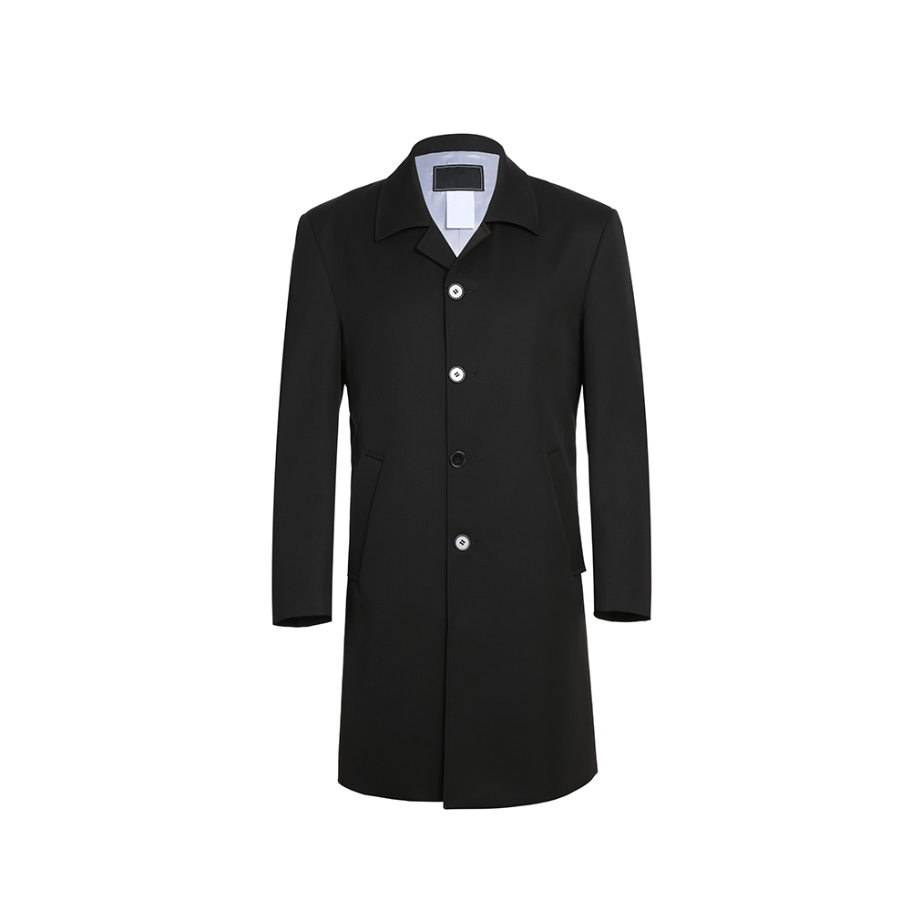 Manufacturers provide custom size wool/polyester men's long coat