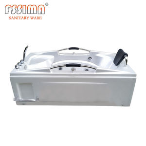 Rectangle acrylic one person whirlpools bathtubs