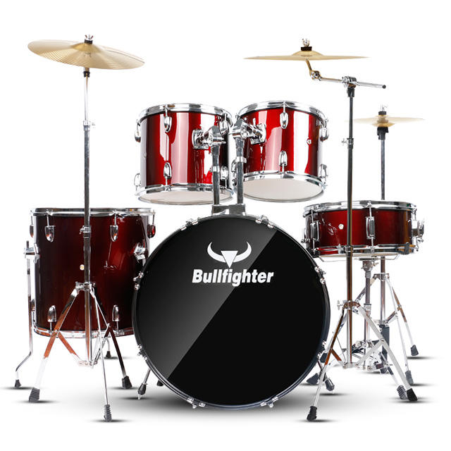 Bullfighter DW1 Professional Drum Set 5pcs Drum Kit For Adult