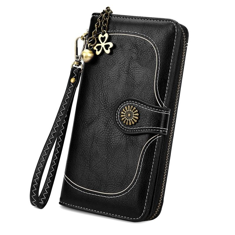 VICUNA POLO New Design Women Pu Wallets Long Zipper Phone Case Ladies Old Fashion Custom Clutch Wallet