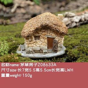 Z08633A Resin Craft Garden Decoration Miniature House Polyresin Statue