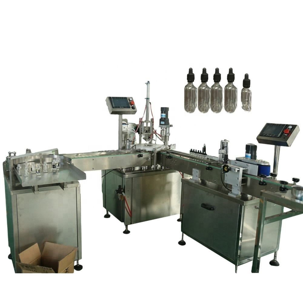 Customized perfume filler, matching capping and labelling machine,Full automatic filling machine can save cost