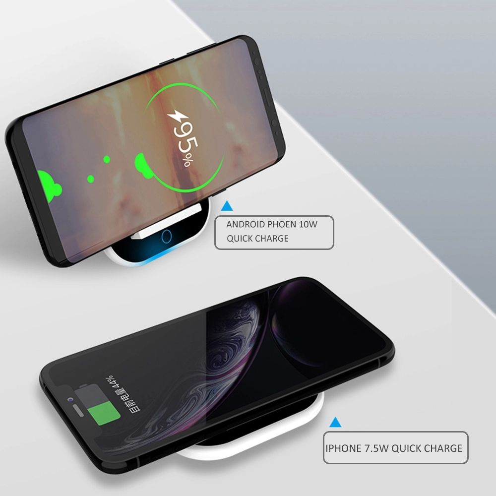 Wireless Charger LED Light 10W Qi Wireless Portable Charger
