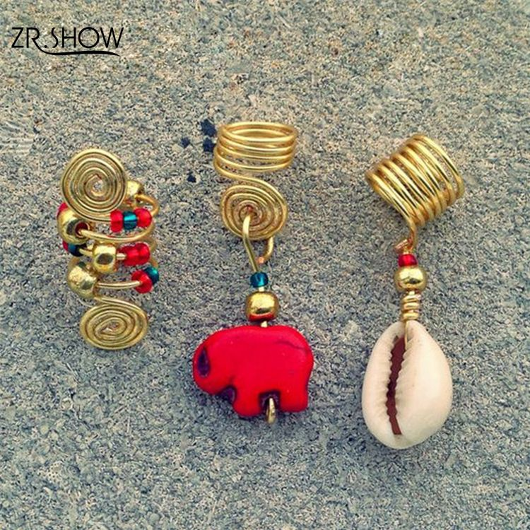 New Design 3pcs/lot Cute Red Elephant Adjustable Hair Accessories Jewelry for Braids Twist Hair