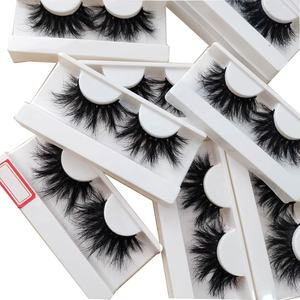 lashes3d wholesale vendor 100% mink fur wholesale private label full strip extra long mink lashes 25mm eyelashes with custom box