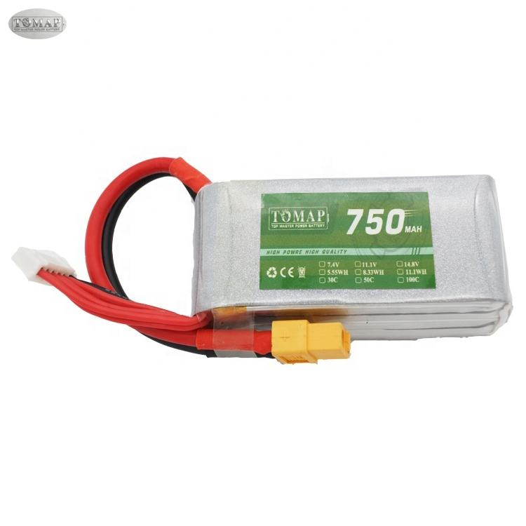 High Performance 100C 14.8V 750Mah Rc Battery 3S 4S Lipo Battery Rc Racing Drone Battery