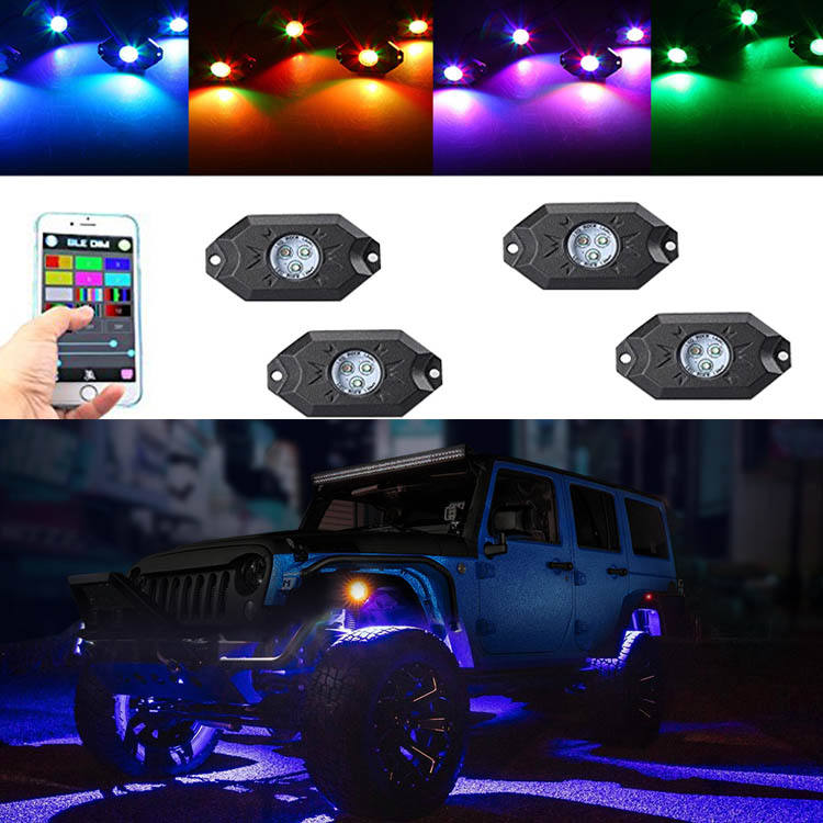 Bluetooth App Controle Rgb Auto Led Strip Licht Onder Auto Underglow <span class=keywords><strong>Underbody</strong></span> System Neon Light