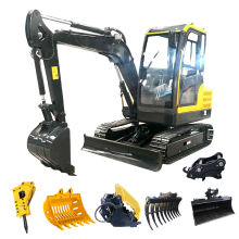 FREE SHIPPING mini digger CE/EPA/EURO 5 China wholesale compact mini excavators 1 ton prices with thumb bucket for sale